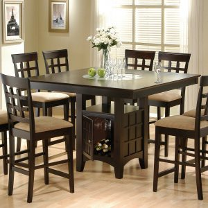 Clanton Storage Counter Height Table Cappuccino