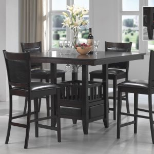 Jaden Square Counter Height Table With Storage Espresso
