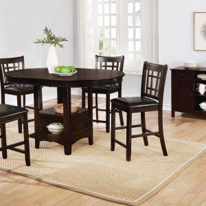 Lavon Oval Counter Height Table Espresso