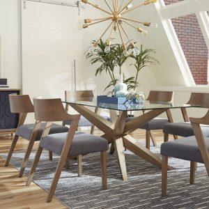 Artesia 5-Piece Rectangular Dining Set Grey Oak And Slate