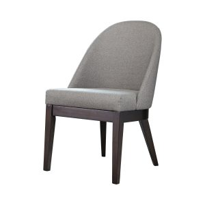 Benton Curved Back Dining Chairs Americano And Light