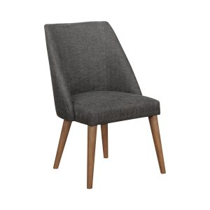 Beverly Upholstered Side Chairs Dark Grey And Dark Cocoa