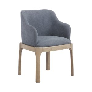Artas Upholstered Arm Chairs Denim Blue