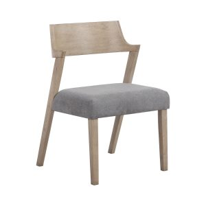 Artesia Open Back Dining Chairs Slate And Grey Oak