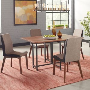 Bridgeport Dining Table With Two Drop Leaves Warm Brown