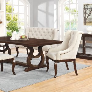 Brockway Cove Trestle Dining Table Antique Java