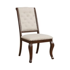 Brockway Cove Tufted Dining Chairs Cream And Antique Java