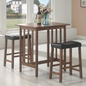 3-Piece Counter Height Set Nut Brown
