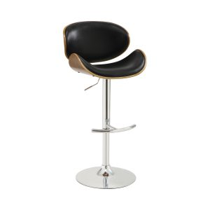 29″ Upholstered Backless Adjustable Bar Stools White And Chrome (Set Of 2)