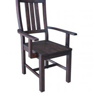 Calandra Slat Back Arm Chairs Vintage Java (Set Of 2)