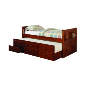 Twin Captain's Daybed With Storage Trundle Cherry