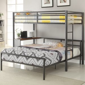 Fisher Twin Workstation Loft Bed Gunmetal