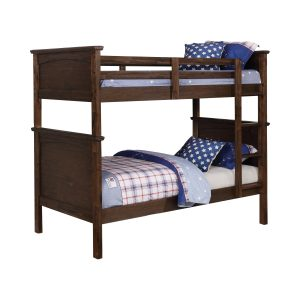 Dalton Twin Over Twin Bunk Bed Country Brown