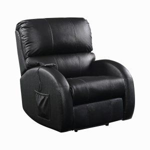 Upholstered Power Lift Recliner Black