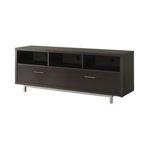 2-Drawer Rectangular TV Console Cappuccino