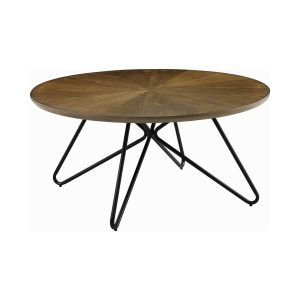 Churchill Round Coffee Table Dark Brown And Black CA