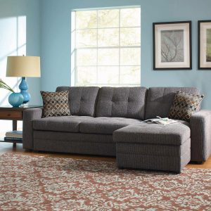 Gus Sleeper Sectional Sofa Charcoal