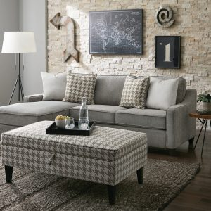 McLoughlin Upholstered Sectional Charcoal CA 502717
