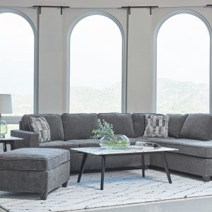 Mccord 2-Piece Cushion Back Sectional Dark Grey