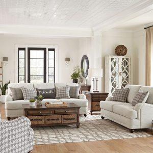 Glenn Cushion Back Sofa Light Grey