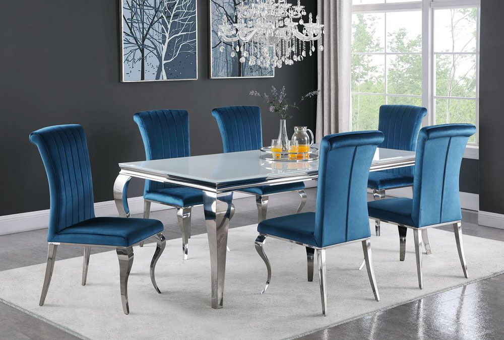 Rectangle Blue Dining Table The Best, Dining Room Sets Edmonton Alberta