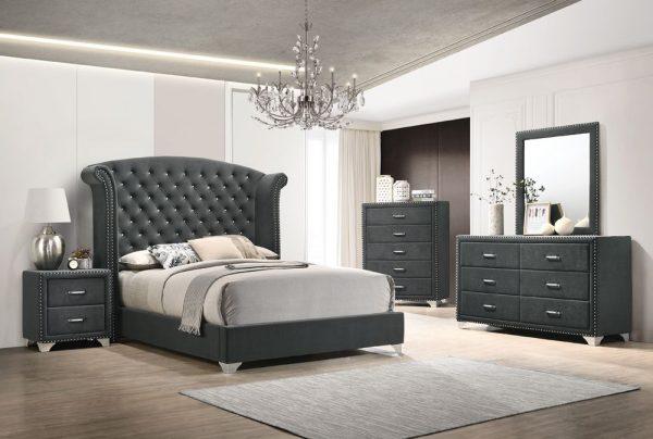 Grey King Bed