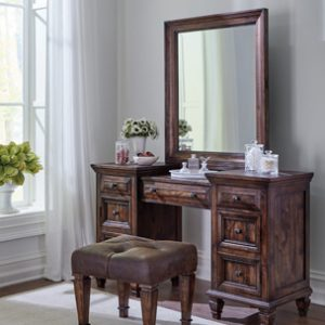 Avenue Rectangle Vanity Mirror Weathered Burnished Brown