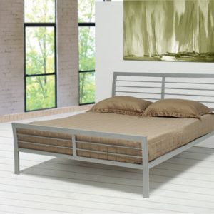 Cooper Full Metal Bed Silver