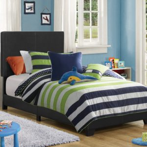Dorian Upholstered Twin Bed Black