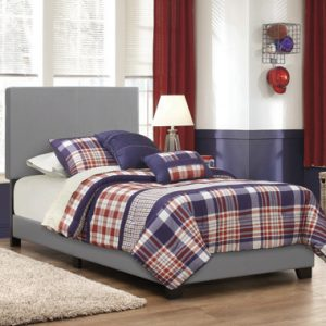 Dorian Upholstered Twin Bed Grey