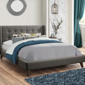 Carrington Button Tufted Full Bed Grey