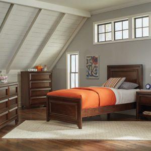 Greenough Full Panel Bed Maple Oak