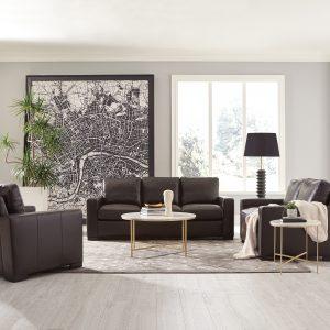 Boardmead 2-Piece Track Arms Living Room Set Dark Brown
