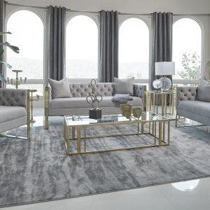 Eastbrook 2-Piece Tufted Back Living Room Set Grey