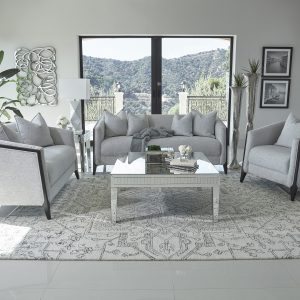 Whitfield 2-Piece Sloped Arm Living Room Set Dove Grey
