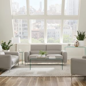 Glenmark 2-Piece Track Arm Living Room Set Taupe