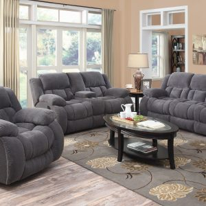 Weissman Motion Loveseat With Console Charcoal
