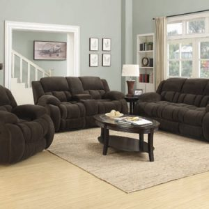 Weissman Motion Loveseat With Console Chocolate